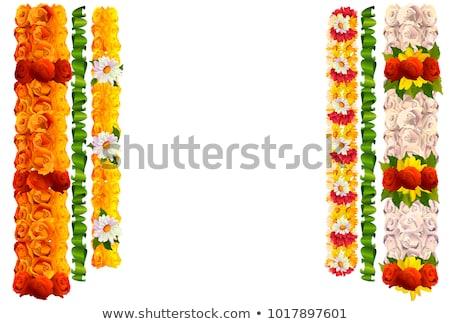 Bloem guirlande steeg bladeren indian traditioneel Stockfoto © orensila