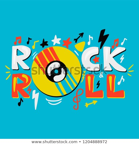 Rock music lettering. Musical icon background. Rock'n'roll sign. Stock photo © Terriana