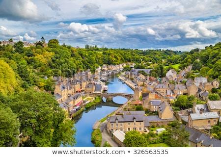Haven rivier Frankrijk banken middeleeuwse stad Stockfoto © tilo