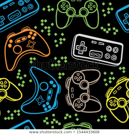 Boy and Girl with Game controls Stock photo © IS2