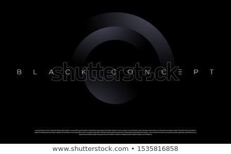 Koyu gri tek renkli circles soyut vektör dizayn Stok fotoğraf © saicle