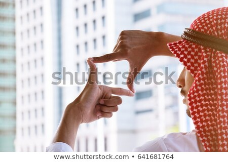Man making square with hands Stock photo © IS2