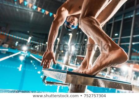 человека дайвинг Бассейн лет свободу плаванию Сток-фото © IS2