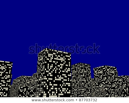 Stone house lit up at night Stock photo © IS2