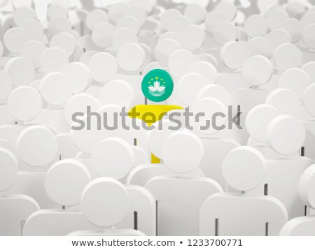 Man with flag of macao in a crowd Stock photo © MikhailMishchenko