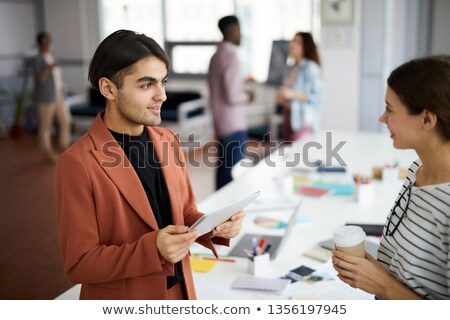 Iki orta doğu işadamları ayakta kadın adam Stok fotoğraf © monkey_business