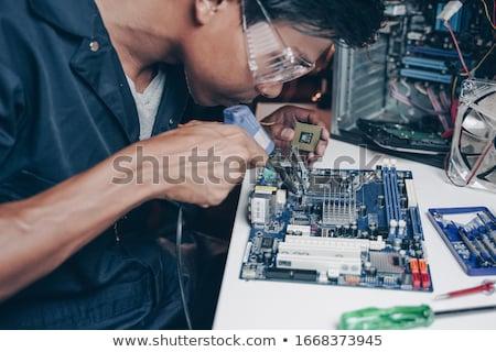 Computer technicus moederbord witte man Stockfoto © wavebreak_media