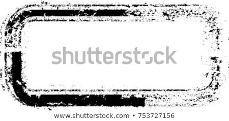Szett négyszögletes grunge bélyegek izolált fehér Stock fotó © kup1984