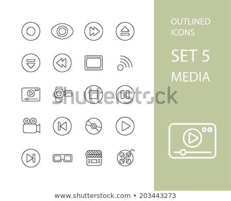 establecer · inicio · iconos · estilo · simple · oficina - foto stock © sidmay