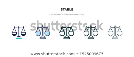 Barn icon in different style Stock photo © sidmay