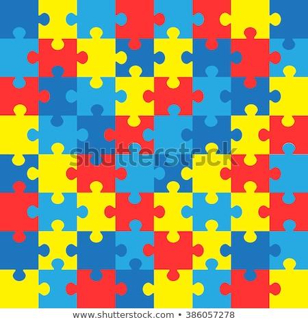 Puzzle autizmus gyermekkor zűrzavar fűrész absztrakt Stock fotó © Lightsource