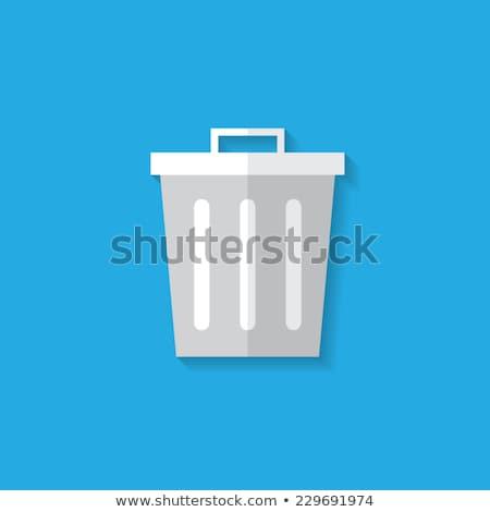 cubo · de · la · basura · icono · basura · estilo · vector - foto stock © biv