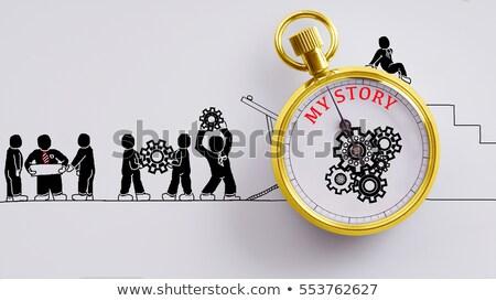 Successo doodle rosso parola business illustrazione Foto d'archivio © tashatuvango