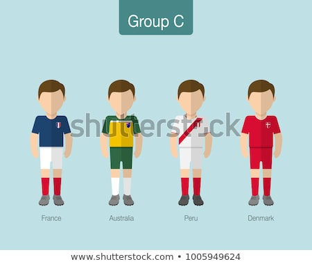 Soccer world game event 2018 Group C country team Stock photo © cienpies
