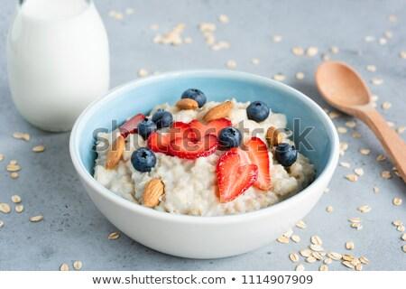 Avoine repas fond lait déjeuner régime alimentaire Photo stock © M-studio