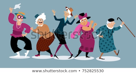 Dom starców strony babcia dance babci staruszka Zdjęcia stock © MaryValery