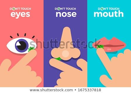 человека рот вирус инфекция иллюстрация медицинской Сток-фото © bluering