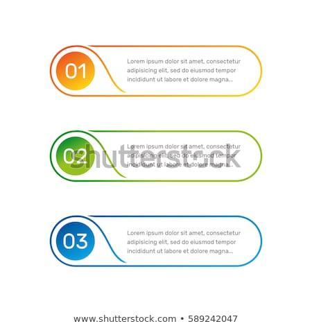 Naranja texto cuadro vector diseno ilustración Foto stock © kyryloff