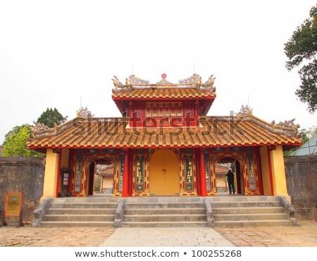 royal · palais · Viêt-Nam · détail · mur · Asie - photo stock © romitasromala