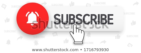 Subscribe on channel. Red button sign in social media with hand cursor. stock photo © AisberG