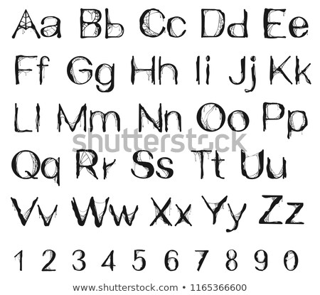 halloween spider web alphabet letters and number stock photo © orensila