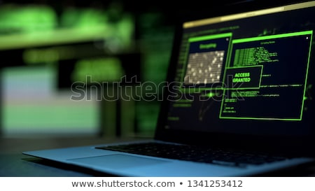 account hacked message on monitor Stock photo © romvo