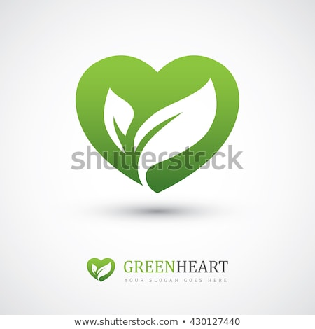 ecology concept with heart of green leaves Stock photo © LoopAll