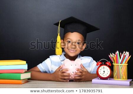 Schooljongen ingesteld school winkelen studenten Stockfoto © toyotoyo