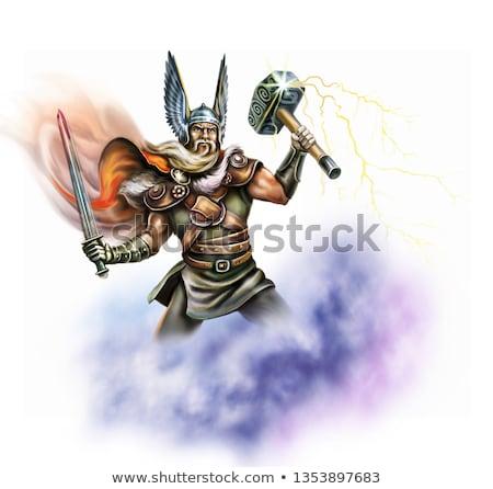 Angry Cartoon Odin Stock photo © cthoman