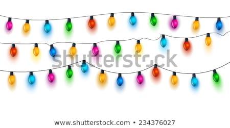 クリスマス · 花輪 · セット · 雪 · 冬 · ボール - ストックフォト © barbaliss