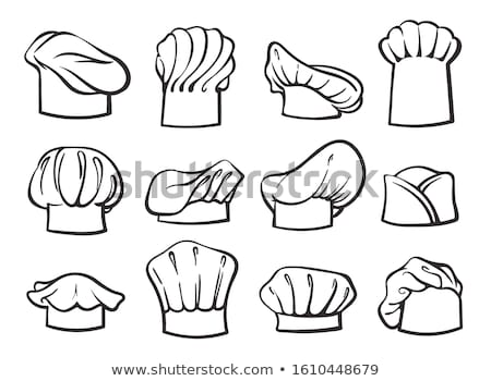 kitchen caps set headwear item for baker chef cook stock photo © robuart