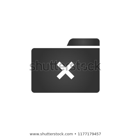 folder icon with delete or cross icon in trendy flat style isolated on white background for your we stock photo © kyryloff