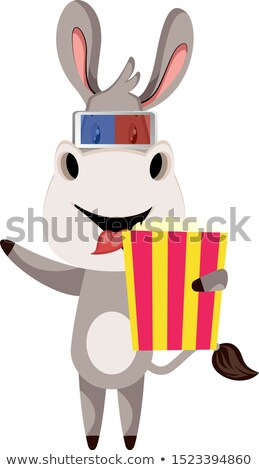 Cartoon Donkey Movies Stock photo © cthoman
