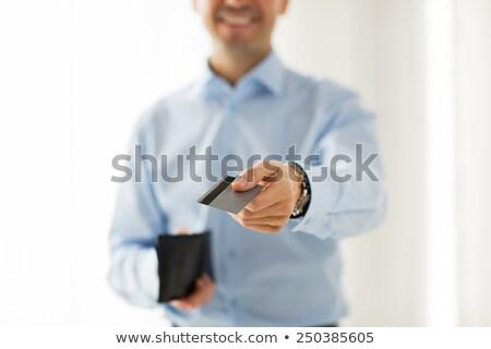 człowiek · dostęp · karty · zdjęcie · futurystyczny · bezpieczeństwa - zdjęcia stock © andreypopov