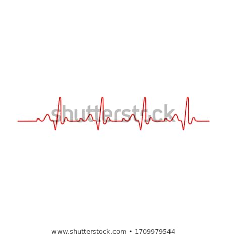 Fréquence cardiaque suivre icône blanche pulsation cardiogramme Photo stock © Imaagio
