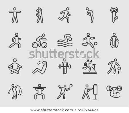 Jumping Rope Exercise Icon Vector Illustration Stock photo © robuart