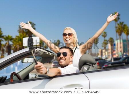 Stock fotó: Nő · autó · elvesz · tengerpart · utazás · út
