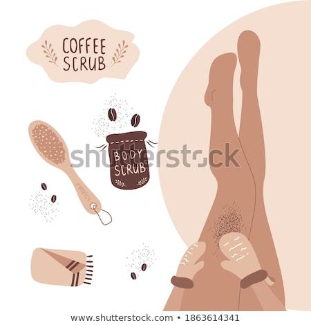 self massage cartoon vector woman massaging legs stock photo © robuart