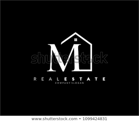 m house logo letter icon home vector sign stock photo © blaskorizov