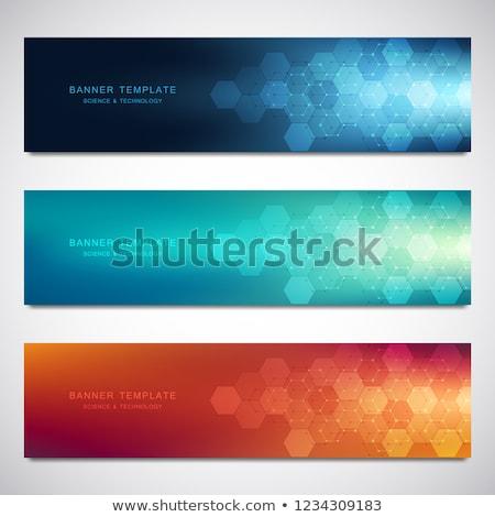 Foto stock: Genetic Engineering Concept Banner Header