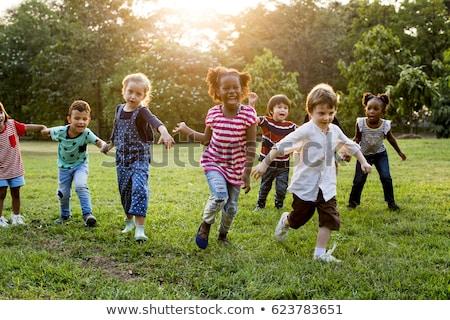 Mały dzieci boisko szczęśliwy grać radosny Zdjęcia stock © liolle