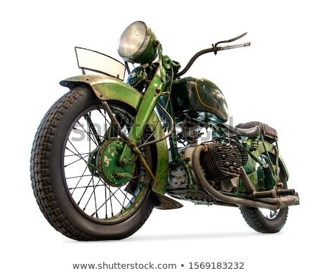 Clássico motocicleta branco ilustração fundo verão Foto stock © bluering