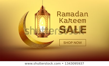 Ramadan Sale Banner Vector. Arabian Concept. Holiday Shopping. Decoration Art. Illustration Stock photo © pikepicture