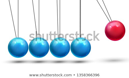 Pendulum Vector. Classic Pendulum With Metall Balls. Physics Motion. Business Leadership. Illustrati Stock photo © pikepicture