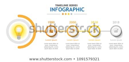 Stock fotó: út · infografika · négy · lépcső · sablon · üzlet