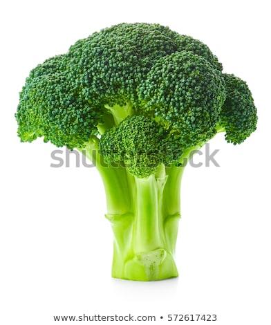Brócolis ilustração desenho animado feliz verde boca Foto stock © colematt