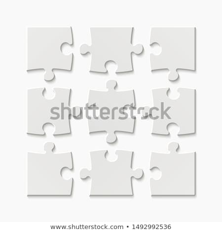 ilustración · blanco · rompecabezas · independiente · piezas · diseno - foto stock © ratkom