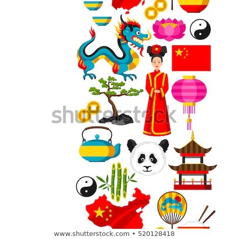 China travel pattern ストックフォト © netkov1