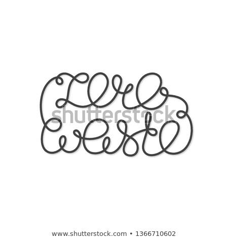 нулевой отходов письма один закрыто линия Сток-фото © user_10144511