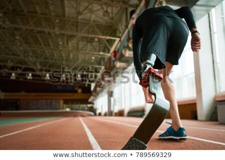 Adam çalışma yapay bacak örnek atletizm Stok fotoğraf © lenm